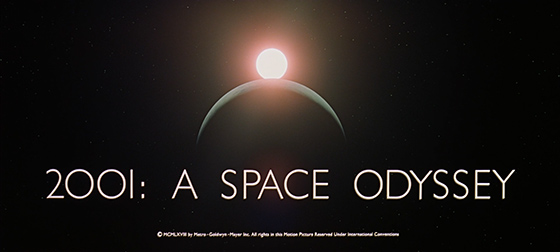 2001: A Space Odyssey title card