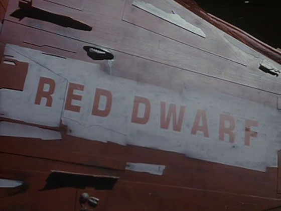 Red Dwarf (Eurostile Bold, squished to about 70% horizontally)